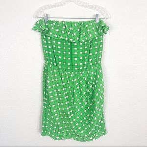 Amanda Uprichard Silk Strapless Dress sz M
